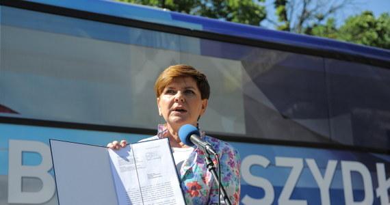 Do prezydenta zostało skierowane pismo z wnioskiem o dodanie trzech pytań do wrześniowego referendum - poinformowała wiceprezes PiS i kandydatka tej partii na premiera Beata Szydło. Referendum zaplanowano na 6 września.