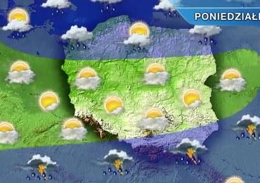 Pogoda na poniedziałek: Burze na południowym wschodzie