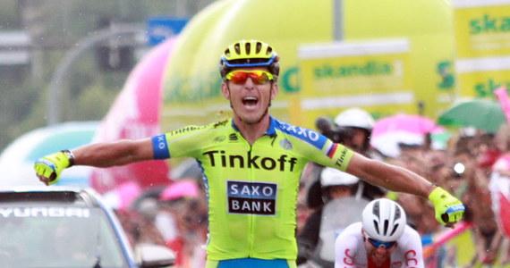 Maciej Bodnar (Tinkoff-Saxo) wygrał w Nowym Sączu czwarty etap wyścigu kolarskiego Tour de Pologne. Na finiszu wyprzedził towarzyszy ucieczki Kamila Zielińskiego z reprezentacji Polski i Łotysza Gatisa Smukulisa (Katiusza).