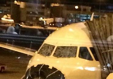 Samolot wleciał w burzę. Gigantyczne zniszczenia