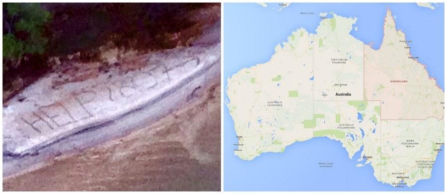 """Brytyjski turysta, który zgubił się w trakcie wyprawy w Australii, został odnaleziony dzięki wielkiemu napisowi """"Help"""", który zrobił na piasku. Sposób okazał się skuteczny - napis dostrzegły ze śmigłowca służby prowadzące poszukiwania zaginionego."""