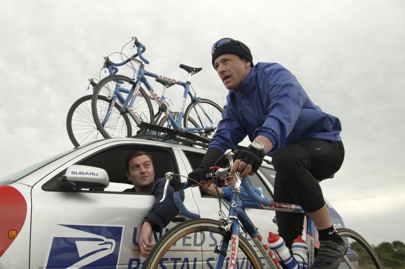 """Ben Foster w """"Strategii mistrza"""" wciela się w Lance'a Armstronga, uważanego przez lata za najlepszego kolarza wszech czasów."""