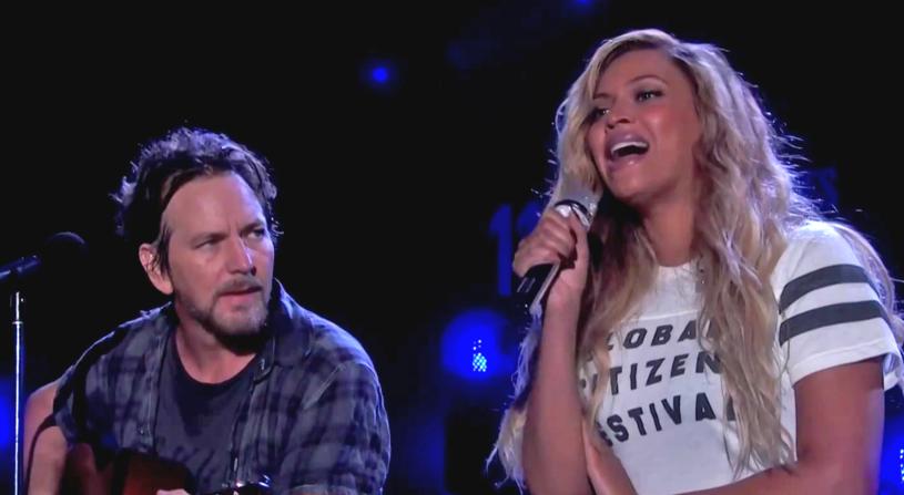 Niesamowity występ zaprezentowali na scenie Global Citizen Festival w Nowym Jorku Eddie Vedder z... Beyonce!