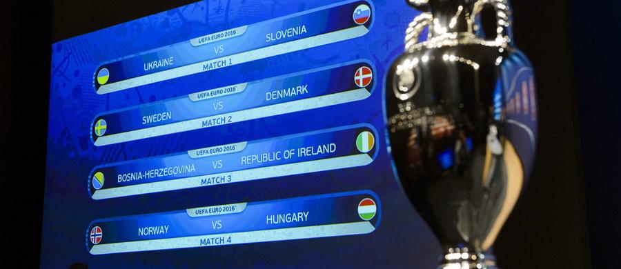 Szwecja - Dania to najciekawsza para barażowa eliminacji piłkarskich mistrzostw Europy, których gospodarzem będzie w przyszłym roku Francja. W pozostałych parach Ukraina zagra ze Słowenią, Bośnia i Hercegowina zmierzy się z Irlandią, a Norwegia z Węgrami. Losowanie odbyło się dzisiaj w szwajcarskim Nyonie.