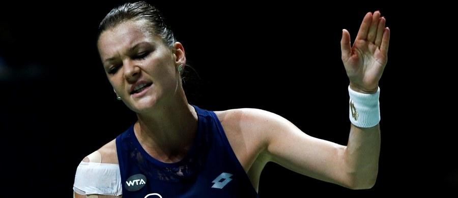 """""""Nie wykorzystałam swoich szans, zdecydowanie"""" - powiedziała Agnieszka Radwańska po porażce z Marią Szarapową w Grupie Czerwonej w turnieju WTA Finals w Singapurze. Polka przegrała w trzech setach (4:6, 6:3, 6:4). Spotkanie trwało prawie 3 godziny."""