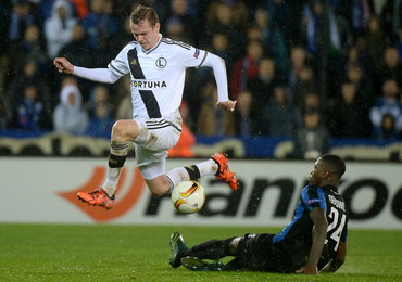 Liga Europejska: Porażka Legii Warszawa w meczu z FC Brugge
