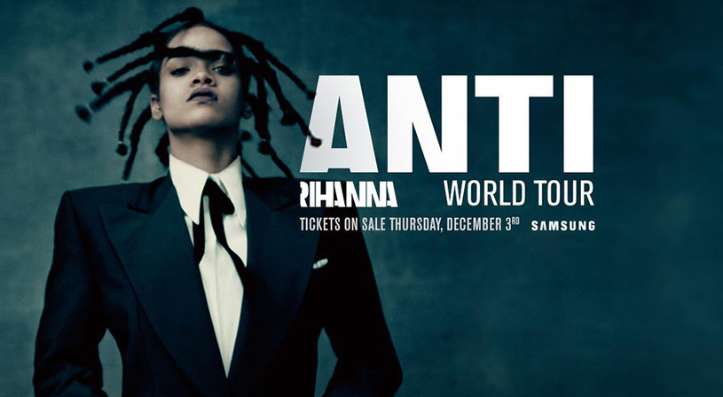 """Barbadoska gwiazda ogłosiła światową trasę koncertową promującą album """"Anti"""". Jednym z miast, które wokalistka odwiedzi w ramach swojego tournée będzie Warszawa. 5 sierpnia 2016 roku w stolicy Polski pojawią się również The Weeknd i Big Sean."""