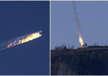 """Tureckie F-16 zestrzeliły rosyjski bombowiec. """"Moskwa była wielokrotnie ostrzegana"""" [FILMY]"""