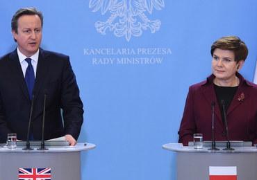 Cameron spotkał się z Dudą i Szydło. Rozmawiali o uchodźcach, sankcjach wobec Rosji i UE