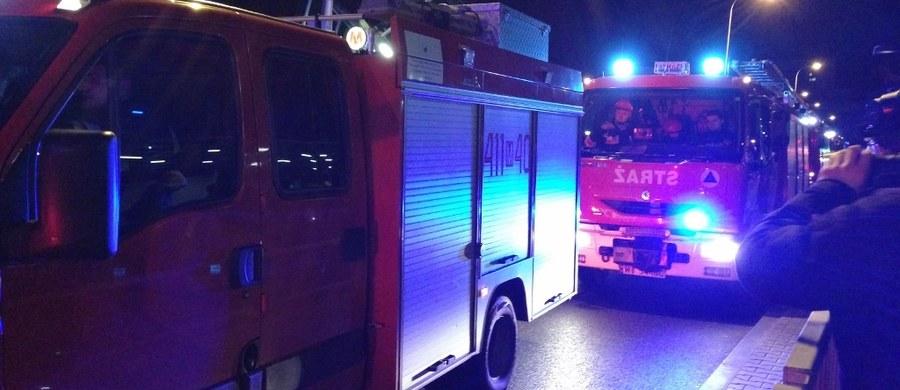 12 zastępów straży od 3:00 w nocy walczy z pożarem przy ulicy Hallera w Gdańsku. W ogniu stanęły między innymi hale magazynowe.