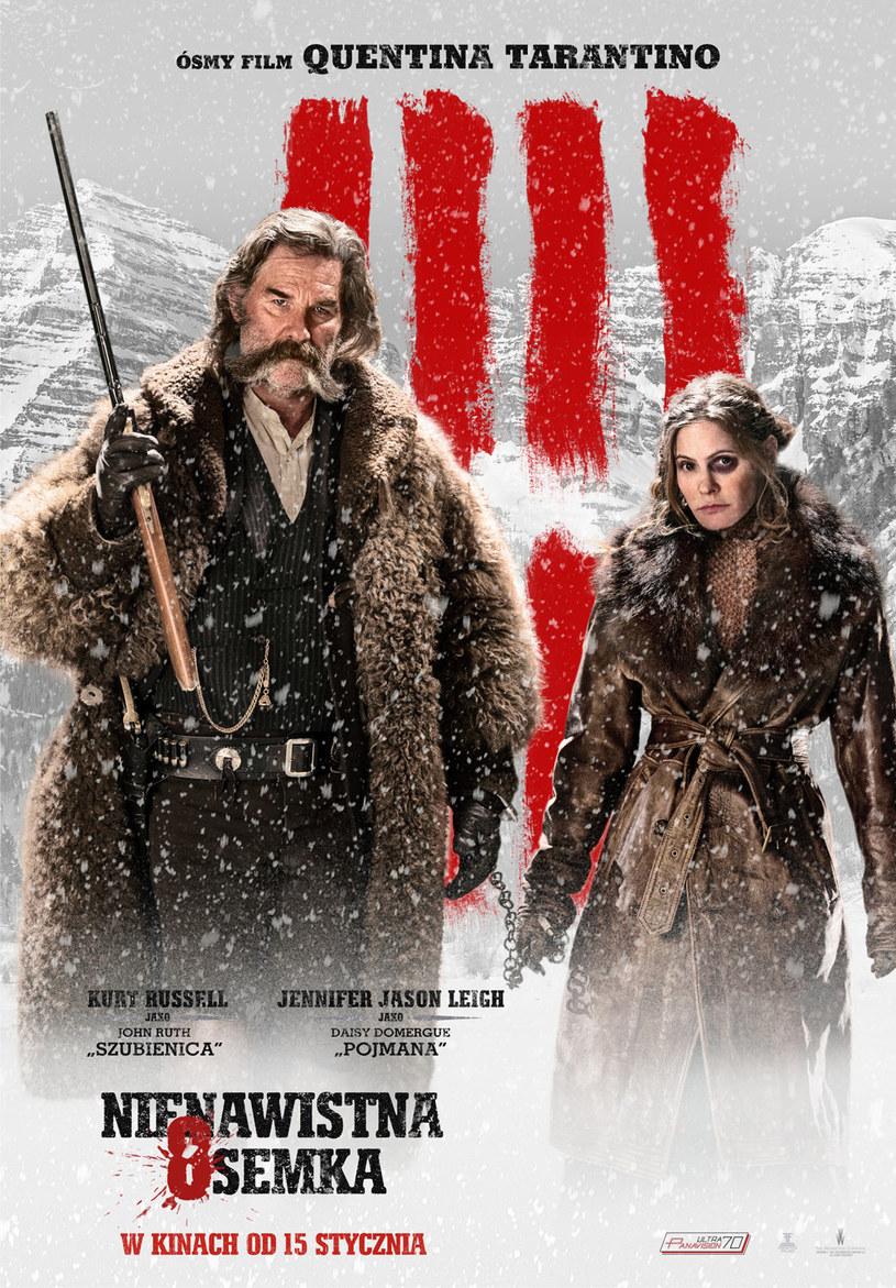"""15 stycznia w kinach pojawi się """"Nienawistna ósemka"""", najnowszy film Quentina Tarantino. W głównych rolach zobaczymy, zgodnie z tytułem, aż ośmioro aktorów."""