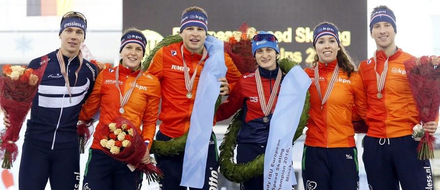Jan Szymański zajął 7. miejsce w mistrzostwach Europy w łyżwiarskim wieloboju w Mińsku. Tytuł mistrzowski - po raz ósmy w karierze - wywalczył Holender Sven Kramer. Wśród kobiet triumfowała Czeszka Martina Sablikova.