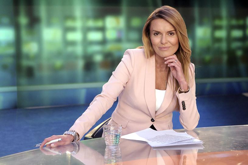 """Hanna Lis żegna się z pracą w Telewizji Polskiej, gdzie prowadziła program informacyjny """"Panorama"""" TVP2."""