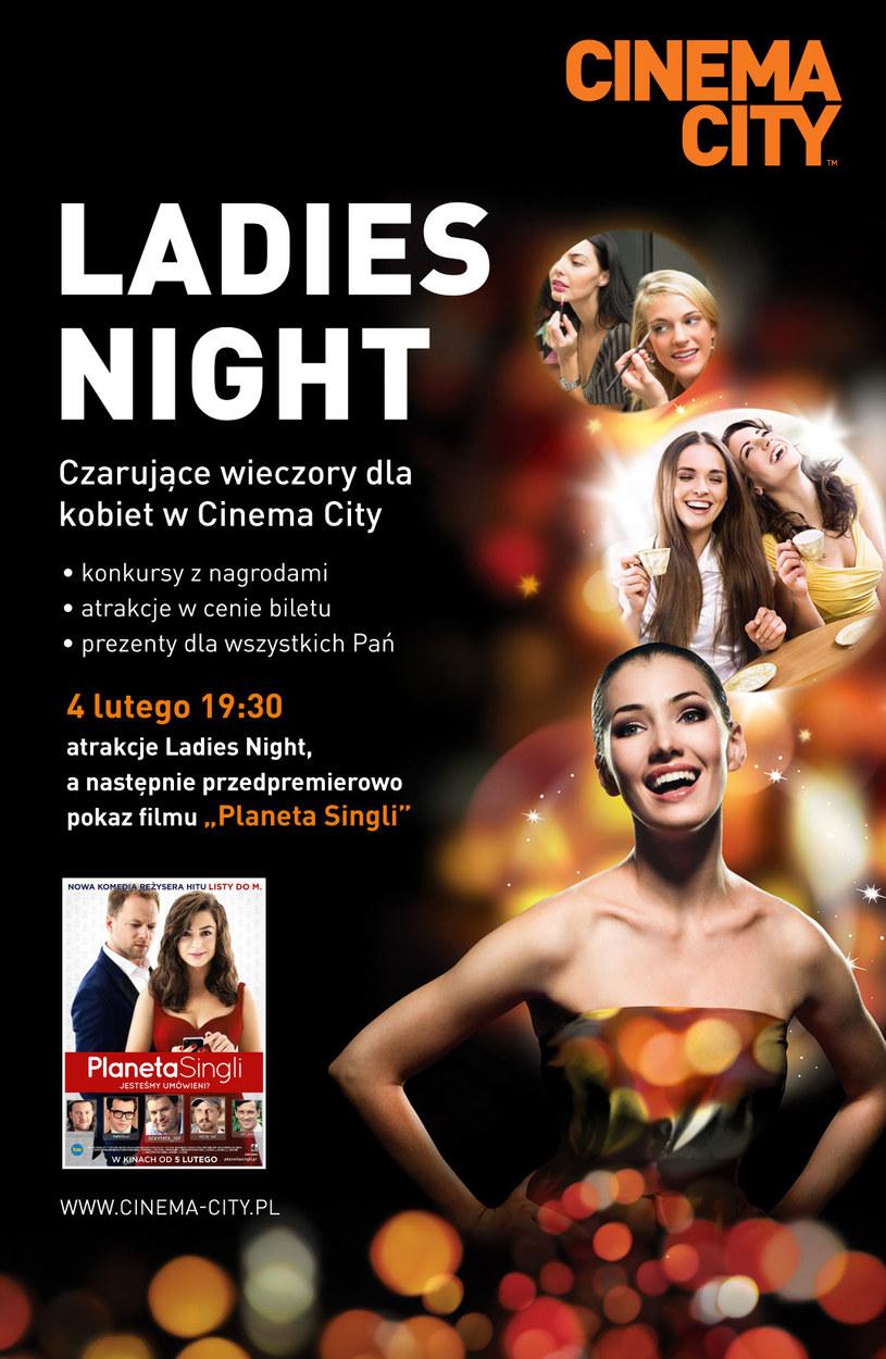 """Już 4 lutego odbędzie się kolejny wieczór Ladies Night w Cinema City Bonarka, w ramach którego wyświetlona zostanie przedpremierowo komedia romantyczna """"Planeta Singli"""". Wspólne oglądanie zabawnych przygód jej bohaterów poszukujących prawdziwej miłości to doskonały sposób na spędzenie mroźnego lutowego wieczoru."""