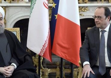 Prezydent Iranu nie zemścił się za kłótnię o wino. Rekordowe kontrakty dla francuskich firm