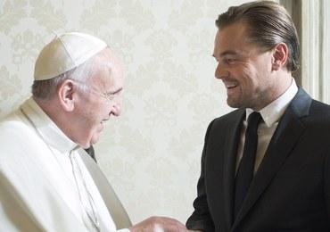 Di Caprio na prywatnej audiencji u papieża Franciszka