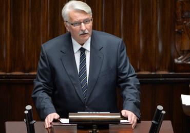 Szef MSZ w Sejmie o kierunkach działań dyplomacji. Opozycja krytykuje, prezydent chwali