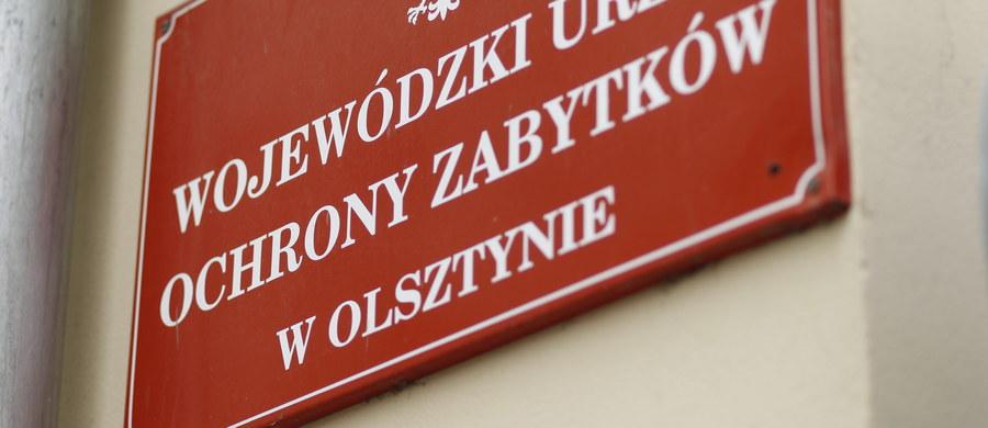 Centralne Biuro Antykorupcyjne zatrzymało Wojewódzką Konserwator Zabytków w Olsztynie. W jej gabinecie trwają przeszukania.