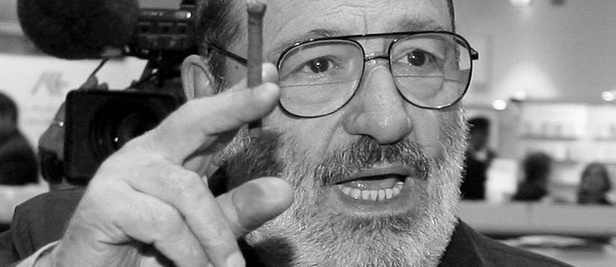 """W wieku 84 lat zmarł w piątek wieczorem wybitny włoski pisarz i eseista, semiolog Umberto Eco  – podał dziennik """"La Repubblica"""" powołując się na jego rodzinę. Autor """"Imienia róży"""" zmarł w swym domu – poinformowała gazeta, z którą był związany."""