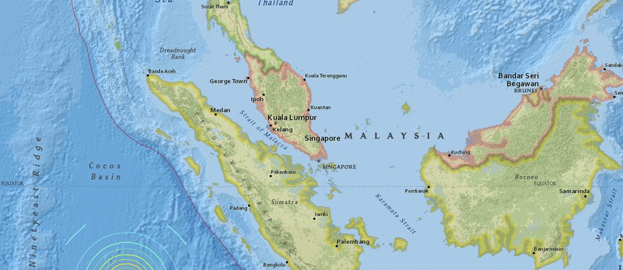 Odwołano ostrzeżenie przed tsunami wydane przez agencję meteorologiczną Indonezji po potężnym trzęsieniu ziemi w pobliżu zachodniego wybrzeża wyspy Sumatra. Wstrząs miał siłę 7,8 stopnia w skali Richtera. Nie ma doniesień o ofiarach i ewentualnych zniszczeniach w kraju.
