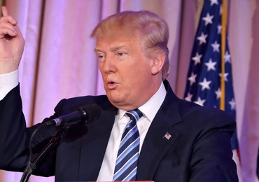 """Trump oskarża """"zbirów"""" o uniemożliwienie wiecu"""