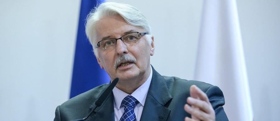W PiS nie ma głosów, że wniosek do Komisji Weneckiej o opinię na temat zmian ustawy o TK był błędem - zapewnił minister spraw zagranicznych. Opinia nie jest wyrokiem, ale jest bardzo cenną opinią, którą na pewno wszyscy będą brali pod uwagę i będą na ten temat rozmawiali - podkreślił Witold Waszczykowski.