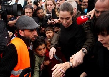 Angelina Jolie odwiedziła uchodźców w greckich obozach
