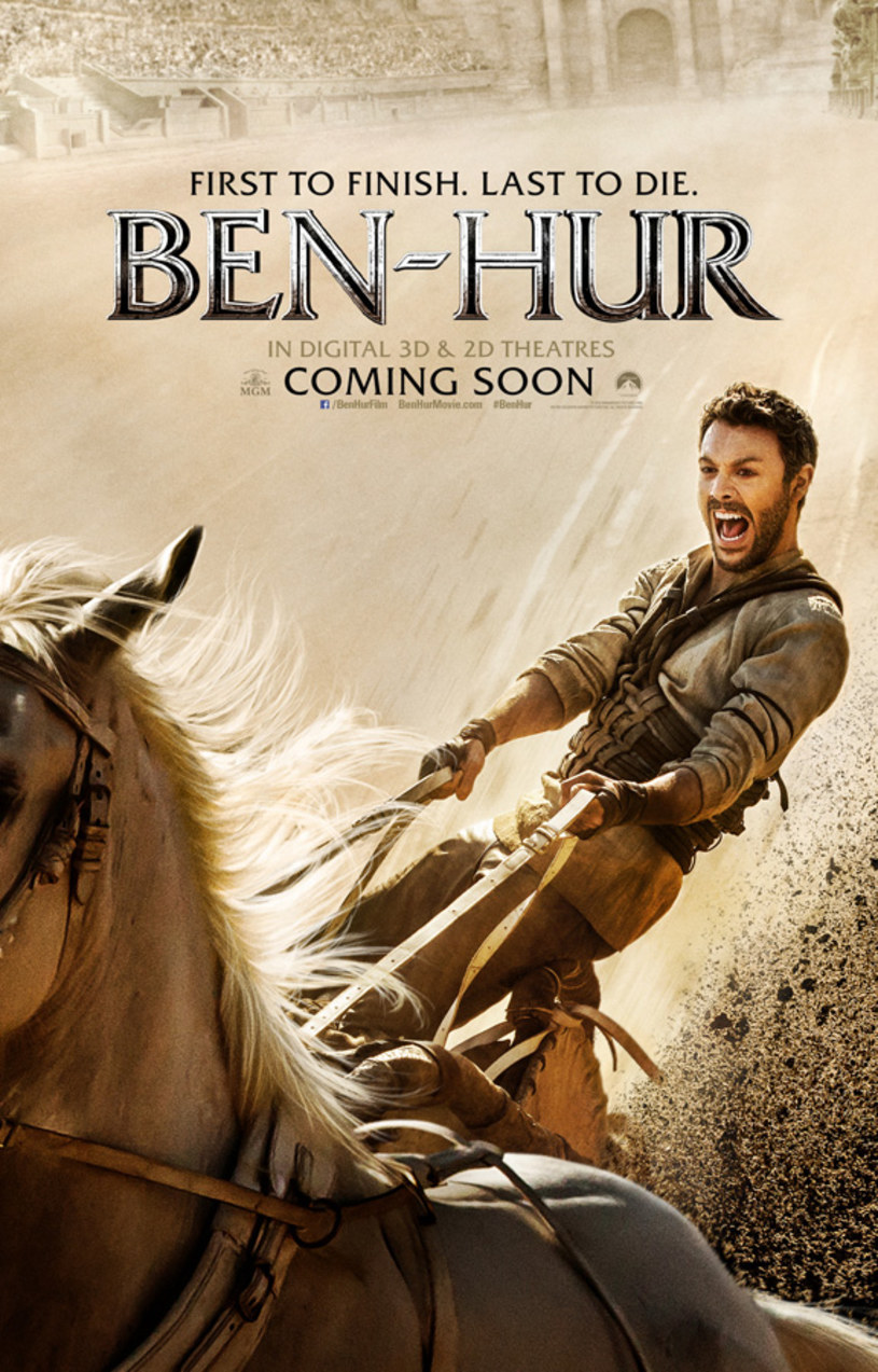 """Już wiadomo, jaki film będzie hitem wakacji. To """"Ben Hur"""", współczesna wersja jednego z najsłynniejszych filmów wszech czasów."""