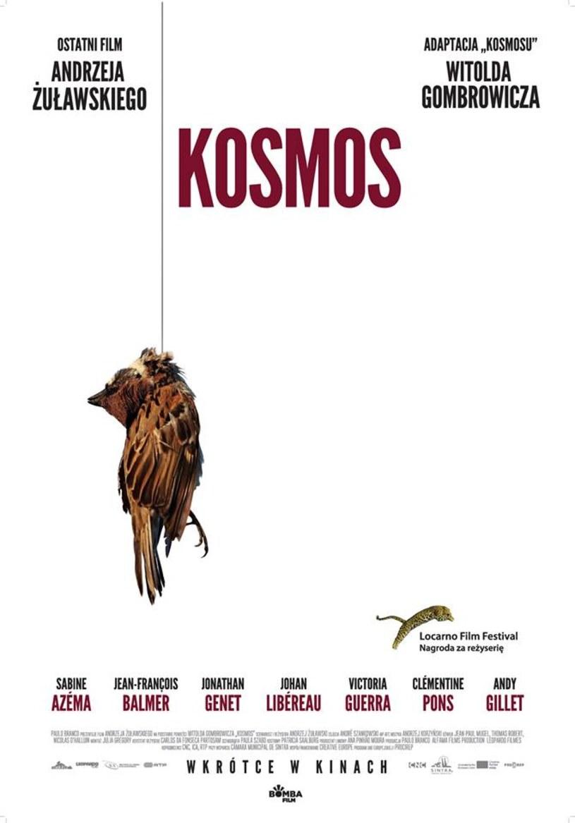 """""""Kosmos"""" - ostatni film Andrzeja Żuławskiego - trafi na ekrany polskich kin. """"Data premiery nie jest jeszcze znana. Od maja udostępnimy jednak film na pokazy przedpremierowe"""" - dystrybutor Bomba Film poinformował na Facebooku."""