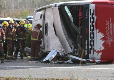 Wypadek autokaru w Hiszpanii. Wśród rannych jest Polak