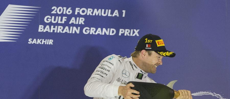 Niemiec Nico Rosberg z teamu Mercedes GP wygrał na torze Sakhir wyścig Formuły 1 o Grand Prix Bahrajnu, drugą rundę mistrzostw świata w sezonie 2016. To jego drugie zwycięstwo w tym roku, triumfował także na inaugurację w Grand Prix Australii.