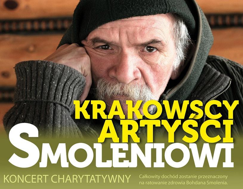 Krakowscy artyści zagrali 11 kwietnia koncert charytatywny, z którego dochód wspomoże rehabilitację chorego Bohdana Smolenia. Uzbierano około 90 tysięcy złotych.