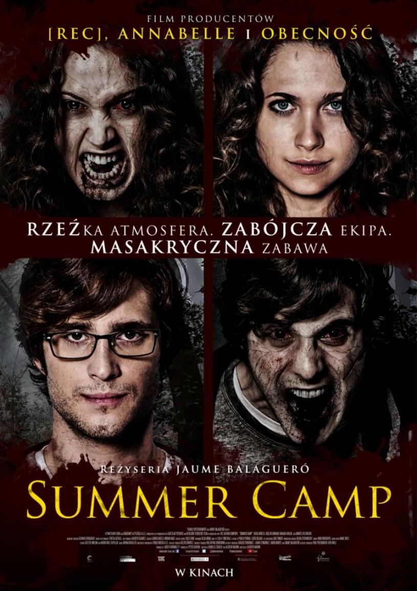 """""""Rzeźka"""" atmosfera, zabójcza ekipa i masakryczna zabawa - oto moc atrakcji, jakie czekają na widzów w horrorze """"Summer Camp"""" - nowej propozycji producentów """"Obecności"""" i """"[REC]""""."""