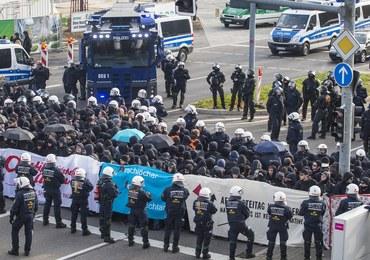 Niemcy: 400 demonstrantów zatrzymanych podczas kongresu antyislamskiej partii AfD