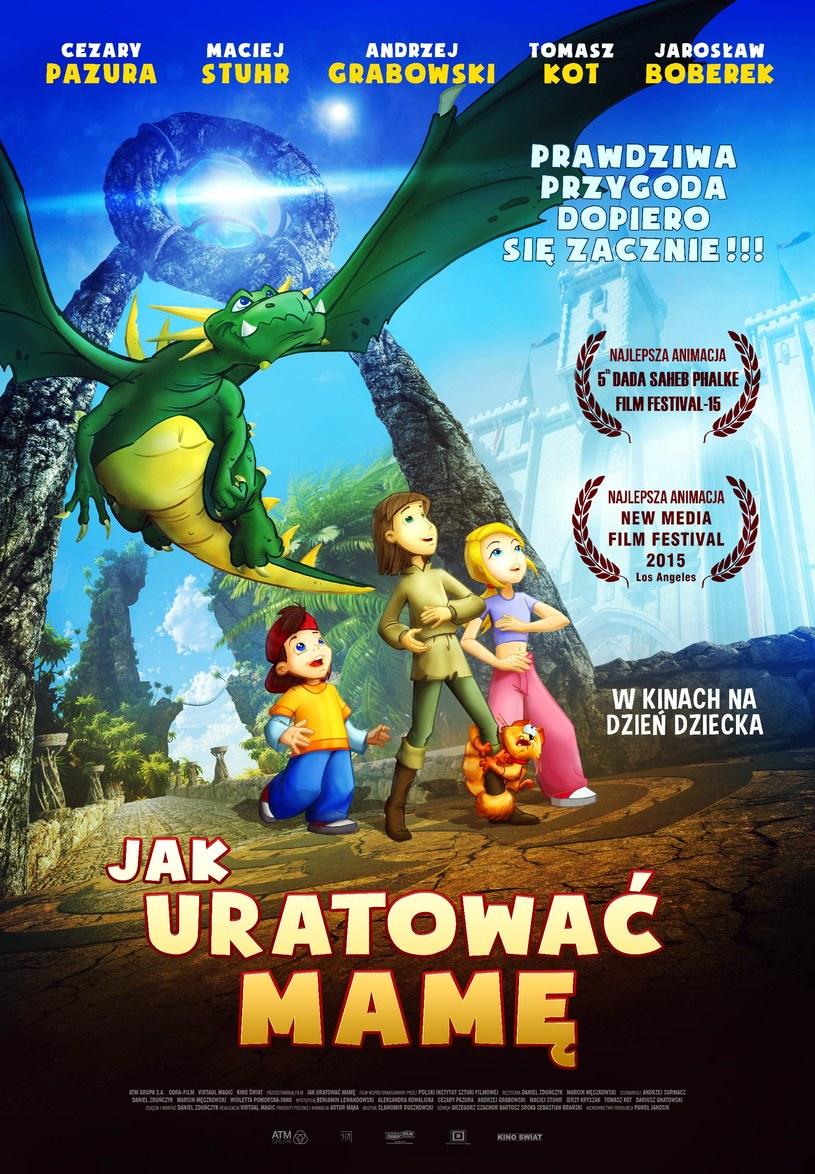 """Kiedy mama potrzebuje pomocy, tylko Adaś i Aneta mogą ją sprowadzić. Za sprawą magii dzieci przenoszą się do tajemniczej krainy - pełnej ziejących ogniem smoków, turniejów rycerskich i zamków. Tak rozpoczyna się """"Jak uratować mamę"""" - polska animacja, którą zachwycił się świat! Film, którego twórcy deklarują, że """"z założenia pozbawiony jest tak modnego dzisiaj okrucieństwa"""" trafi na ekrany 1 czerwca."""