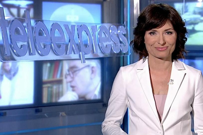 """Katarzyna Trzaskalska wróciła do grona prowadzących """"Teleexpress"""". Dziennikarka przywitała się ponownie z widzami we wtorek, 10 maja."""