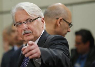 Waszczykowski: To parlament jest stroną dyskusji z KE o Trybunale Konstytucyjnym