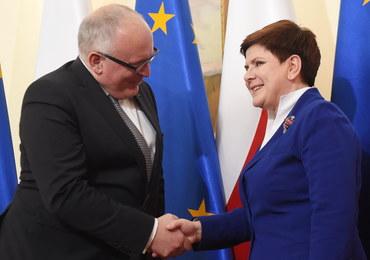 Frans Timmermans: Premier Szydło obiecała postęp ws. TK. Od niego zależy opinia nt. Polski