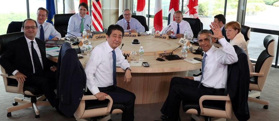 """Brexit mógłby stanowić """"poważne zagrożenie"""" dla światowej gospodarki – ostrzegli w deklaracji końcowej szczytu G7 w Japonii liderzy siedmiu najbardziej uprzemysłowionych państw świata. Referendum, w którym Brytyjczycy zdecydują, czy ich kraj ma wyjść z Unii Europejskiej, czy pozostać w niej, odbędzie się 23 czerwca."""