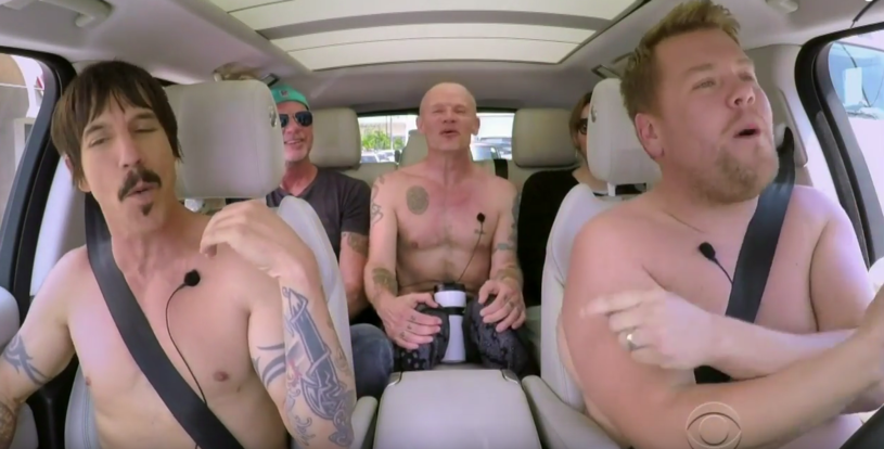 """Przed premierą nowej płyty """"The Getaway"""" muzycy Red Hot Chili Peppers wzięli udział w popularnym programie Jamesa Cordena - """"Carpool Karaoke""""."""