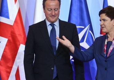 Beata Szydło rozmawiała z brytyjskim premierem o atakach na Polaków