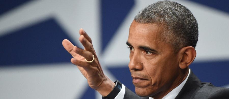 """Prezydent USA Barack Obama podziękował rządowi polskiemu i obywatelom Polski za zorganizowanie szczytu NATO, w szczególności podziękował warszawiakom za """"doskonałą gościnność""""."""