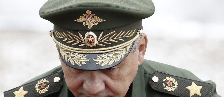 """Sąd w rejonie peczerskim w Kijowie wydał list gończy za szefem rosyjskiego MON Siergiejem Szojgu - poinformowała agencja TASS. Oprócz tego Prokuratura Generalna Ukrainy będzie prowadziła postępowanie wobec 18 rosyjskich polityków i wojskowych, którzy mają """"zagrażać bezpieczeństwu Ukrainy""""."""