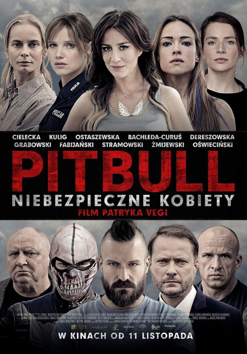 """Patryk Vega zaprezentował na Facebooku plakat filmu """"Pitbull. Niebezpieczne kobiety"""". Druga część planowanej trylogii trafi do kin 11 listopada."""