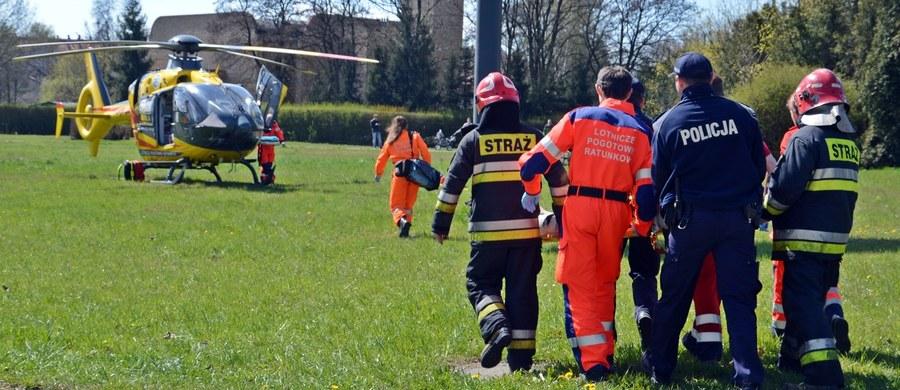 """13 osób, w tym 11 pasażerów autobusu oraz dwóch kierowców, trafiło do rzeszowskich szpitali po wypadku, do którego doszło w Trzebownisku koło Rzeszowa. Na krajowej """"19"""" zderzyły się autobus komunikacji miejskiej, samochód dostawczy i osobowy."""