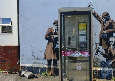 Tajemnicze zniknięcie jednego z graffiti Banksy'ego