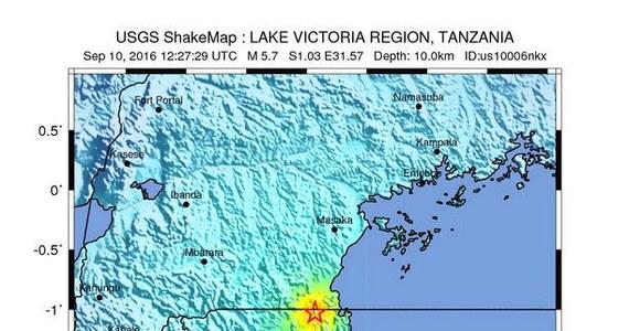 Kilka osób zginęło na skutek trzęsienia ziemi, które nawiedziło północno-zachodnią Tanzanię - poinformował urząd prezydenta Tanzanii Johna Magufulego. Lokalna gazeta podała, że jest 10 ofiar śmiertelnych.