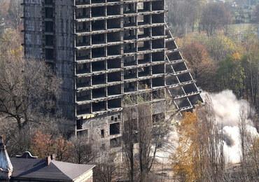 Wielki wybuch w Sosnowcu. Szkieletor znika z mapy miasta