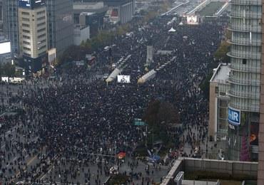 Masowe protesty w Korei Południowej. Sto tysięcy osób domagało się rezygnacji prezydent