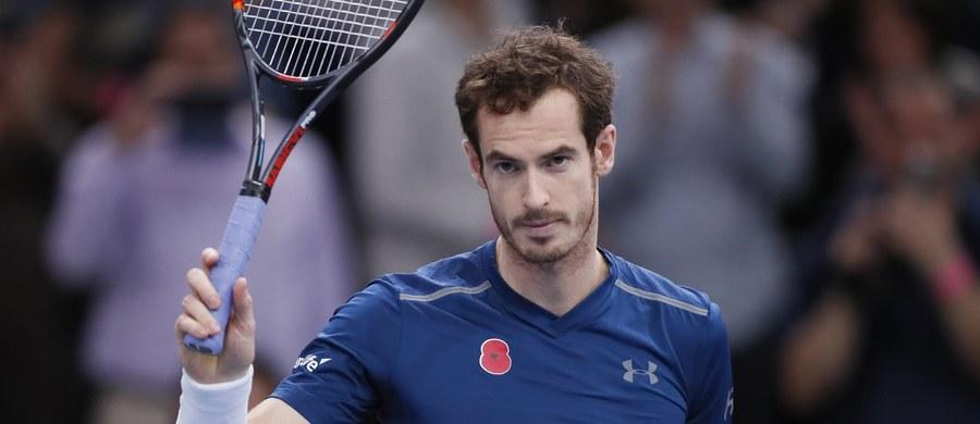 Andy Murray zostanie w poniedziałek nowym liderem rankingu ATP. Milos Raonić wycofał się z sobotniego półfinału turnieju w Paryżu.